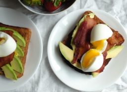 Avocado, Bacon, & Egg Toast