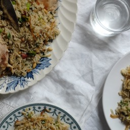 Chicken Pilaf with Pistachios & Dill