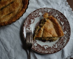Onion, Leek, & Scallion Chicken Pie