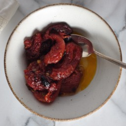 Slow-Roasted Plum Tomatoes with Olive Oil & Herbs