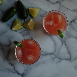 Watermelon Jalapeño Cilantro Margaritas
