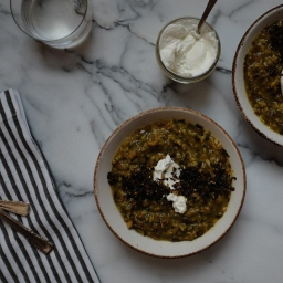Beggar's Soup (Persian Rice, Lentil, & Herb Soup)