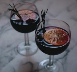 Mulled Wine with Burnt Raisins, Cardamom, & Rosemary