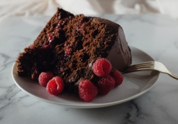 Happy 2nd Birthday, Lo-Fi Gourmet! Chocolate Raspberry Cake