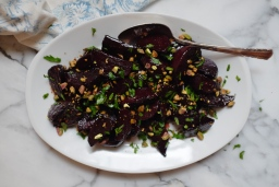 Pomegranate-Glazed Beets with Pistachios