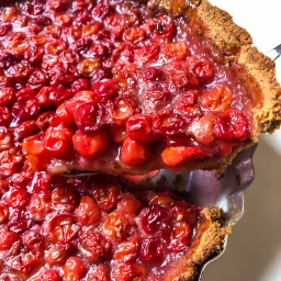 Sour Cherry Pie with an Almond Crust (Gluten Free)