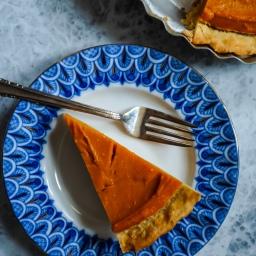 Kabocha Persimmon Pie